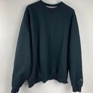 Champion Mens XXL Black Sweater Pullover Logo